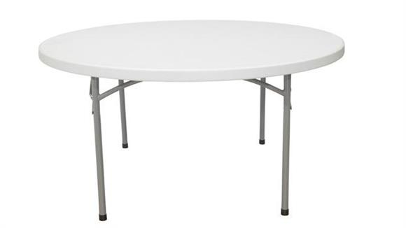 "Folding Tables National Public Seating 60"" Round Lightweight Folding Table"