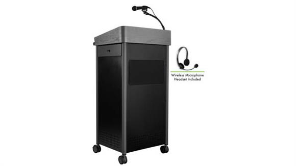 Podiums & Lecterns National Public Seating Lectern with Sound and Wireless Headset Mic