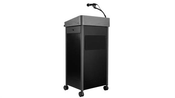 Podiums & Lecterns National Public Seating Greystone Lectern with Sound