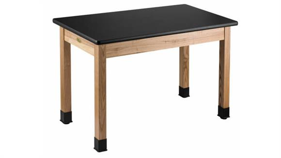 "Science & Lab Tables National Public Seating Science Lab Table  - 24"" x 54"""