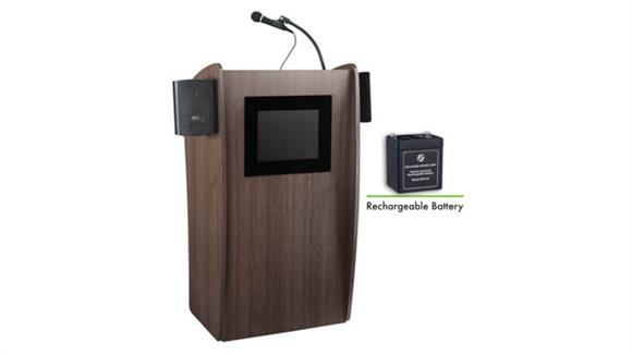 Podiums & Lecterns National Public Seating Lectern with Sound & Screen, Rechargeable Battery