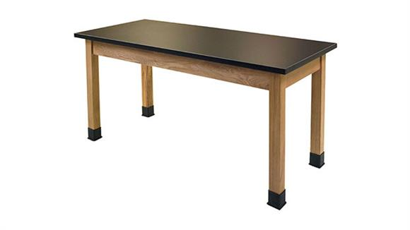 "Science & Lab Tables National Public Seating 24"" x 48"" Science Table"