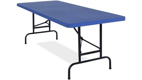 Folding Tables National Public Seating Adjustable Height Blow Molded Folding Table