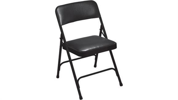 Folding Chairs National Public Seating Premium Vinyl Folding Chair
