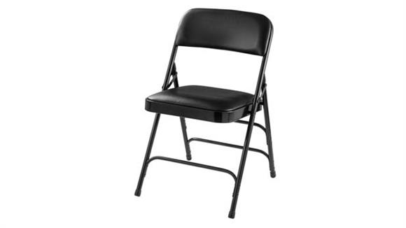 Folding Chairs National Public Seating Vinyl Upholstered Premium Folding Chair with Triple Brace Double Hinge