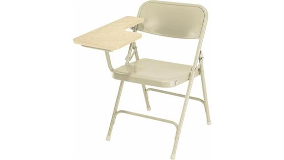 Folding Chairs National Public Seating Premium All Steel Folding Chair with Tablet Arm