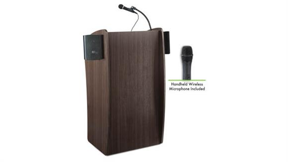 Podiums & Lecterns National Public Seating Lectern with Sound & Wireless Handheld Mic