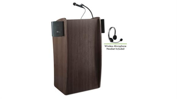 Podiums & Lecterns National Public Seating Lectern with Sound & Wireless Headset Mic