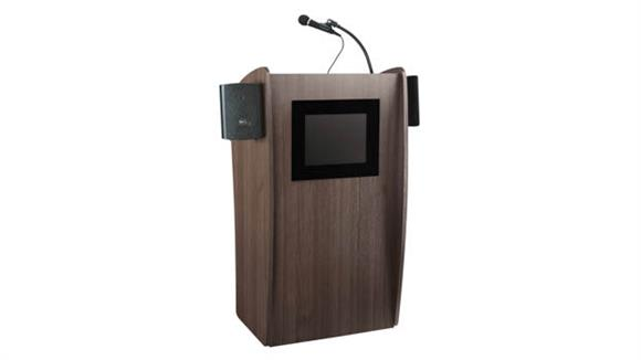 Podiums & Lecterns National Public Seating Lectern with Sound & Screen