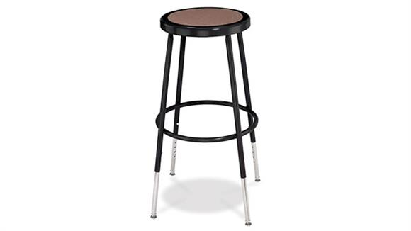 """Counter Stools National Public Seating 25""""-33"""" Adjustable Height Stool"""