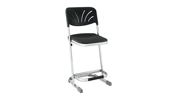 """Drafting Stools National Public Seating 22"""" Stool with Blow Molded Seat and Back"""