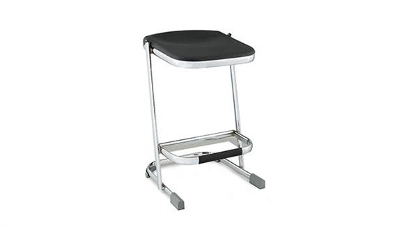 "Drafting Stools National Public Seating 24"" Stool with Blow Molded Seat"