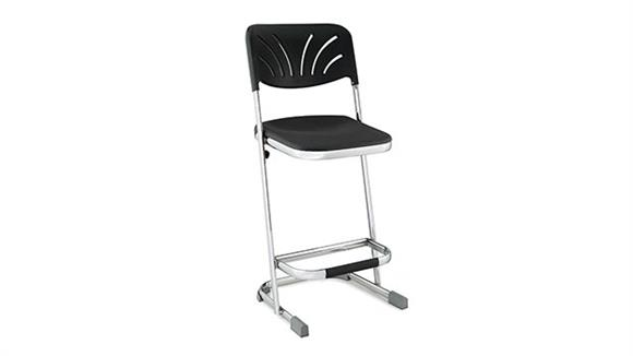 "Drafting Stools National Public Seating 24"" Stool with Blow Molded Seat and Back"