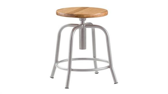 Drafting Stools National Public Seating Adjustable Height Stool With Wooden Seat