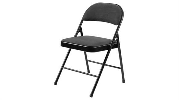 Folding Chairs National Public Seating Fabric Padded Folding Chair