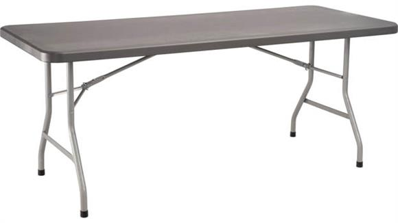 "Folding Tables National Public Seating 30"" x 72"" Heavy Duty Folding Table"