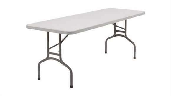 "Folding Tables National Public Seating 72"" Lightweight Folding Table"