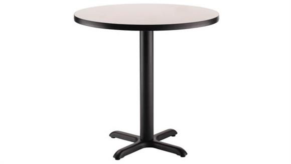 "Pub & Bistro Tables National Public Seating 30"" Round x 30""H -"