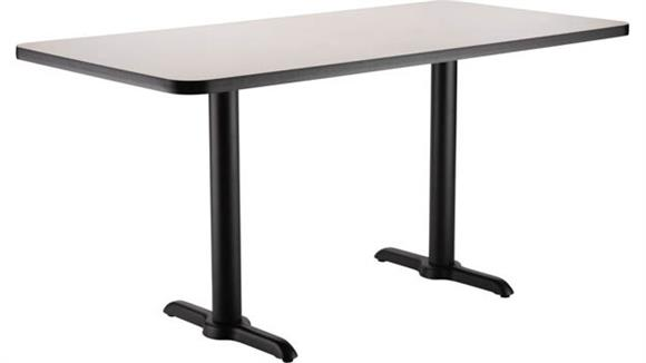 "Pub & Bistro Tables National Public Seating 30""W x 48""D x 30""H -"