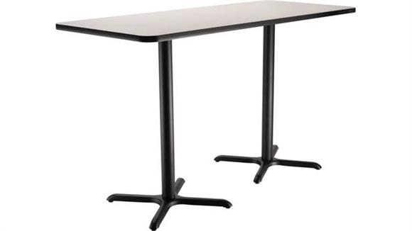 "Pub & Bistro Tables National Public Seating 30""W x 72""D x 42""H Rectangle -"