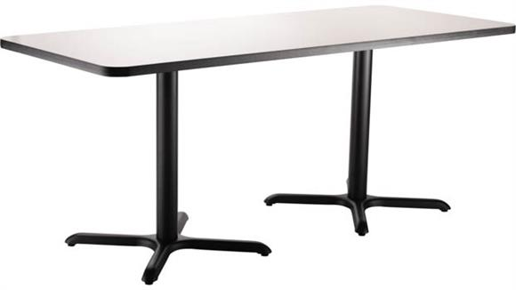 "Pub & Bistro Tables National Public Seating 30""W x 72""D x 30""H Rectangle -"