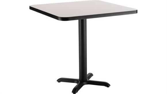 "Pub & Bistro Tables National Public Seating 24"" Square x 30""H -"