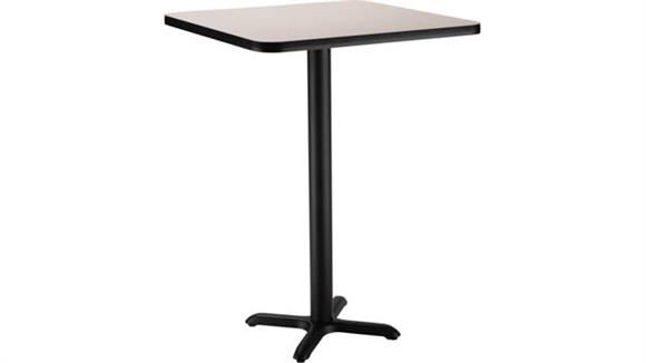 "Pub & Bistro Tables National Public Seating 42"" Square x 42""H -"