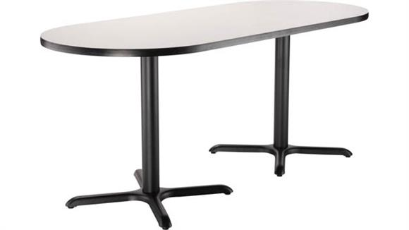 "Pub & Bistro Tables National Public Seating 30""W x 72""D x 30""H Racetrack -"