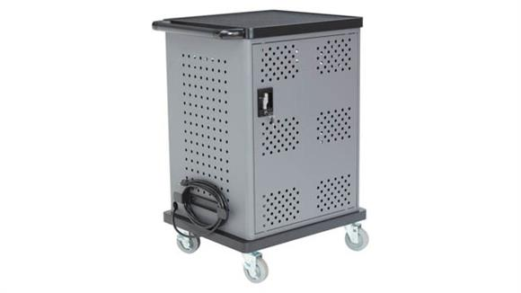 Computer Carts National Public Seating Duet Charging Cart
