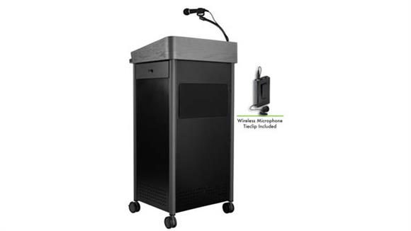 Podiums & Lecterns National Public Seating Lectern with Sound and Wireless Tie Clip/Lavalier Mic