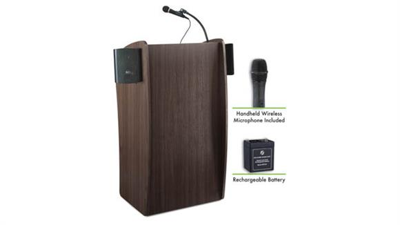 Podiums & Lecterns National Public Seating Lectern with Sound, Rechargeable Battery, Wireless Mic