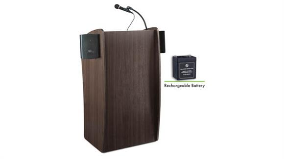 Podiums & Lecterns National Public Seating Lectern with Sound and Rechargeable Battery