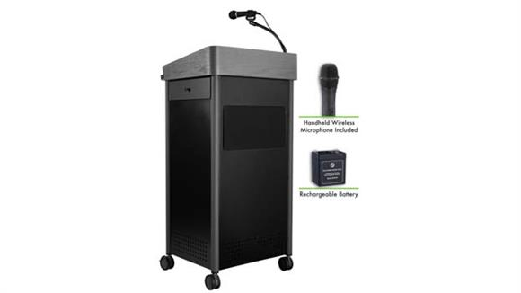 Podiums & Lecterns National Public Seating Lectern with Sound, Rechargeable Battery, Wireless Handheld Mic