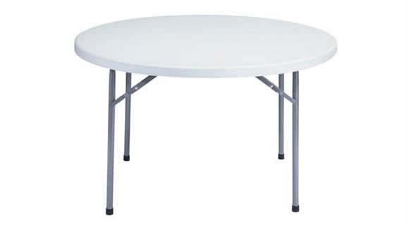 "Folding Tables National Public Seating 48"" Round Lightweight Folding Table"