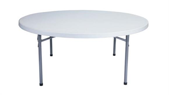 "Folding Tables National Public Seating 71"" Round Lightweight Folding Table"