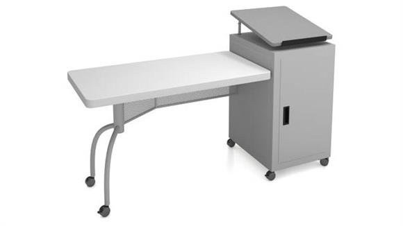 Executive Desks National Public Seating Edupod Teachers Desk & Lectern Combo