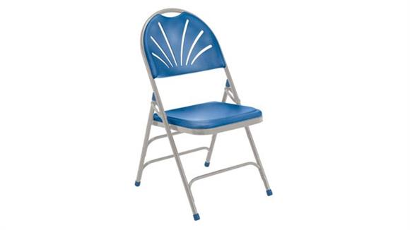 Folding Chairs National Public Seating Fan Back Polyfold Chair