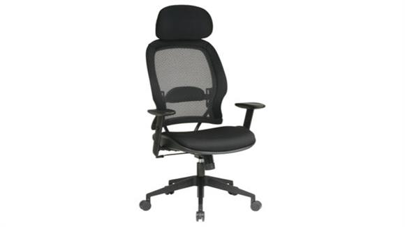 Office Chairs Office Star Professional Air Grid Chair with Adjustable Headrest