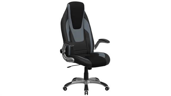 Office Chairs Innovations Office Furniture High-Back Executive Swivel Chair with Flip-Up Arms