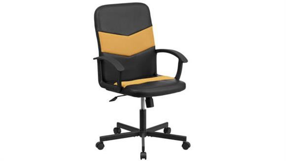 Office Chairs Innovations Office Furniture Mid-Back Vinyl and Mesh Executive Swivel Chair with Arms