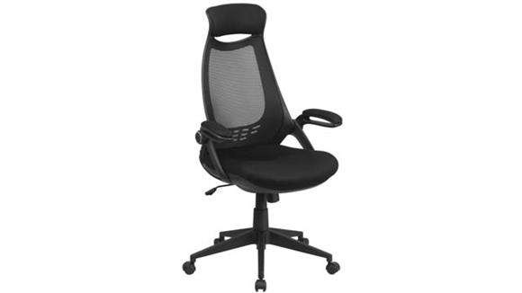 Office Chairs Innovations Office Furniture High-Back Mesh Executive Swivel Chair with Flip-Up Arms