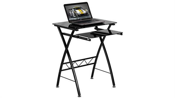 Computer Desks Innovations Office Furniture Black Tempered Glass Computer Desk