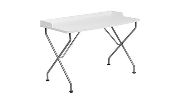 Computer Desks Innovations Office Furniture Computer Desk with Silver Frame