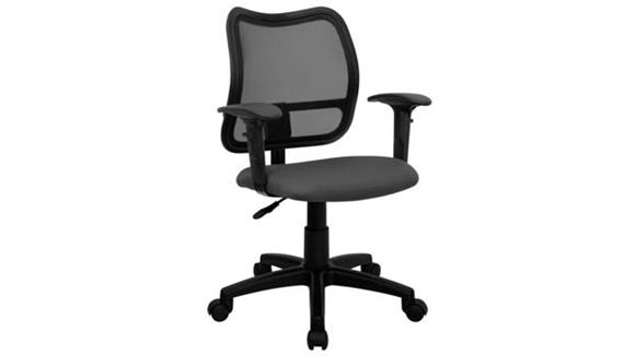 Office Chairs Innovations Office Furniture Mid-Back Mesh Swivel Chair with Adjustabe Arms