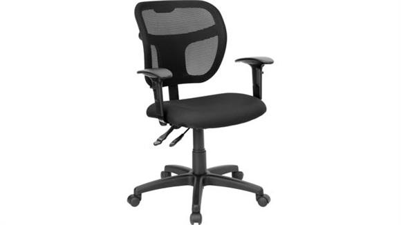 Office Chairs Innovations Office Furniture Mid-Back Mesh Swivel Chair with Adjustable Arms