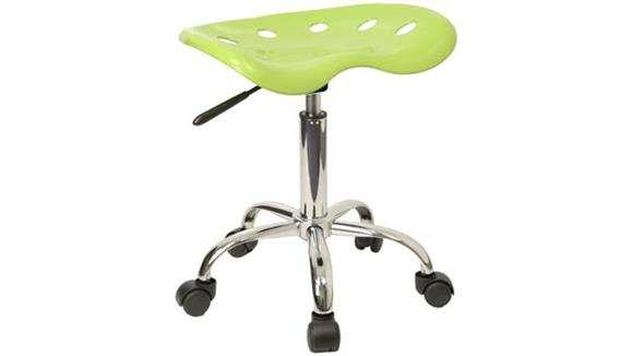 Drafting Stools Innovations Office Furniture Vibrant Apple Green Tractor Seat And Chrome Stool