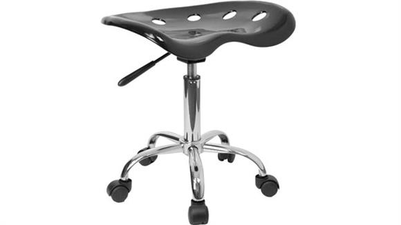 Drafting Stools Innovations Office Furniture Vibrant Black Tractor Seat And Chrome Stool