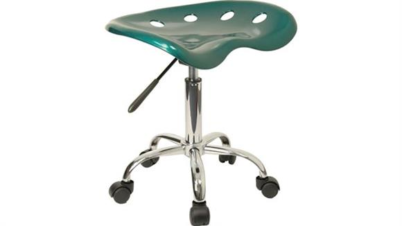 Drafting Stools Innovations Office Furniture Vibrant Green Tractor Seat And Chrome Stool