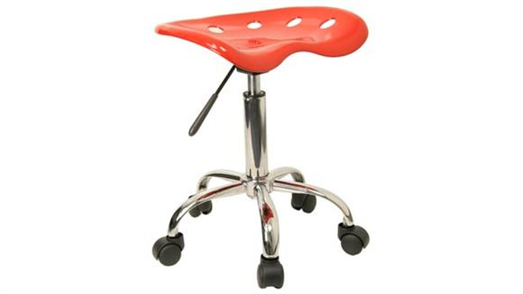 Drafting Stools Innovations Office Furniture Vibrant Red Tractor Seat And Chrome Stool