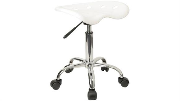 Drafting Stools Innovations Office Furniture Vibrant White Tractor Seat And Chrome Stool